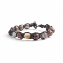 Rose Polychrome Jasper Tibetan Bracelet For Woman