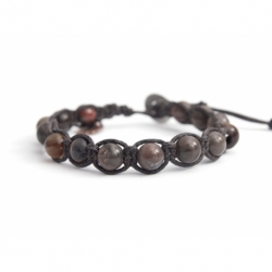 Dove-Gray Polychrome Jasper Tibetan Bracelet For Man