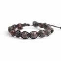 Dove-Gray Polychrome Jasper Tibetan Bracelet For Man