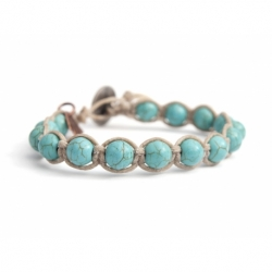 Turquoise Paste Tibetan Bracelet For Man