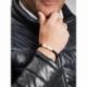 Matte Onyx Natural And White Howlite Stone Beads Man Bracelet