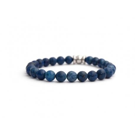 dd54ea0c5a7260 Bracciale pietre dure acciaio blu