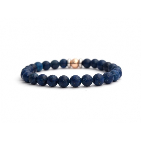 Mens Beaded Bracelet With Lapis Lazuli Stone