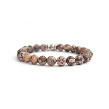 Ghost'S Eye Jasper Stone Beads Bracelet For Man