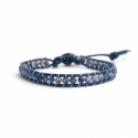 Sodalite Bracelet For Man Onto Blue Leather