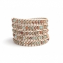 Jasper Wrap Bracelet For Woman With Bbhands Silver 925 Button